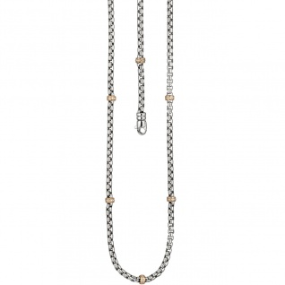 Collier Halskette 585 Gold Weißgold Rotgold bicolor 65 Diamanten 45 cm