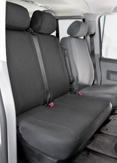 Passform Sitzbezüge Transporter VW T5, passgenauer Stoff Sitzbezug Doppelbank...
