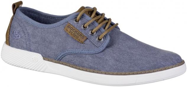 DOCKERS Herren Canvas Sneakers blau, softe Decksohle, Laufsohle mit Dockers Logo