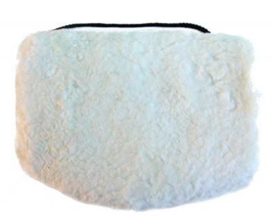 warmer Lammfell Pelzmuff naturweiß ca. 28x20 cm, waschbar, mit Reißverschlusstasche