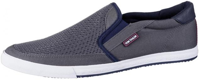 TOM TAILOR Herren Textil Slippers grey, weiche Laufsohle mit TOM TAILOR Logo