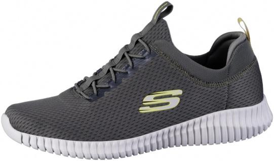 SKECHERS Elite Flex coole Herren Mesh Sneakers oliv, Air Cooled Memory Foam F...
