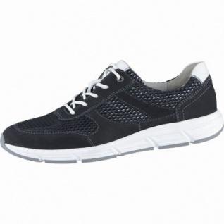 Waldläufer Haslo Herren Leder Sneakers schwarz, Waldläufer Leder Fußbett, Extra Weite, 2238108/8.5