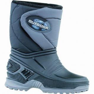 Beck Outdoor Jungen Winter PVC Thermostiefel schwarz, Warmfutter, warmes Fußbett, bis -30 Grad, 4535111/25