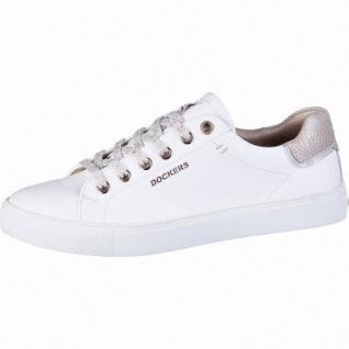 save off 57358 134c5 Dockers modische Damen Leder Imitat Sneakers weiss rosegold, herausnehmbare  Decksohle, 1242158/36