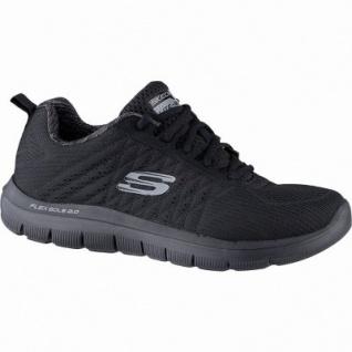 Skechers Flex Advantage 2.0 The Happs coole Herren Mesh Sneakers black, Air-Cooled Memory Foam-Fußbett, 4241148