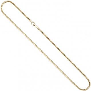 Zopfkette 585 Gelbgold 2, 6 mm 45 cm Gold Kette Halskette Goldkette Karabiner - Vorschau 3