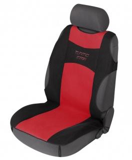 sportliche Universal Polyester PKW Auto Sitzauflage Tuning Star rot, 120x60 c...