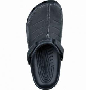 Crocs Yukon Mesa Herren Clogs schwarz, mit Leder verarbeitet, verstellbarer Fersenriemen, 4337109/41-42 - Vorschau 2