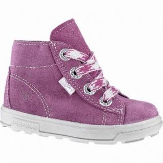 Pepino Zaini Mädchen Leder Winter Boots fuchsia, Lammwoll Futter, warmes Fußbett, mittlere Weite, 3241145/25