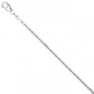 Ankerkette 925 Silber 2 mm 45 cm Halskette Kette Silberkette Karabiner
