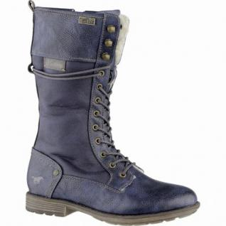 Mustang Mädchen Synthetik Winter Tex Stiefel navy, Warmfutter, warme Decksohle, 3739218