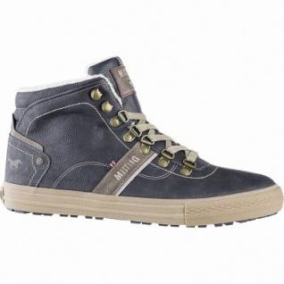 Mustang coole Herren Leder Imitat Winter Boots graphit, 10 cm Schaft, molliges Warmfutter, warme Decksohle, 2541188
