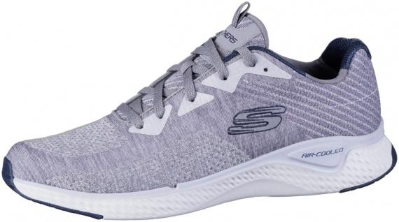 SKECHERS Solar Fuse Herren Sneakers grey, Strickmaterial, Air Cooled Memory F...