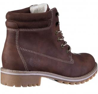JANE KLAIN Damen Synthetik Boots brown, Fleecefutter, weiche Super Soft Decks... - Vorschau 2