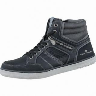 TOM TAILOR sportliche Herren Synthetik Sneakers black, Kaltfutter, flexible Laufsohle, 2137129/45