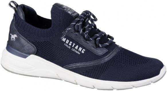 MUSTANG Herren Sneakers navy, Strickmaterial, herausnehmbare Decksohle