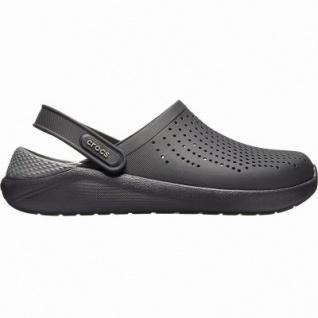 Crocs Lite Ride Clog superweiche + leichte Damen, Herren Clogs black, Massage Fußbett, 4341102/45-46