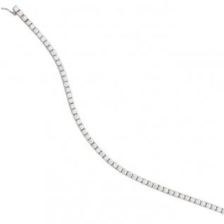 Armband 750 Gold Weißgold 68 Diamanten Brillanten 3, 53ct. 18 cm Weißgoldarmband