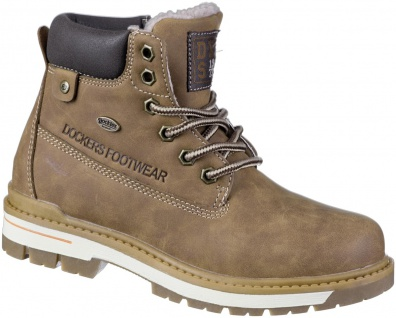 DOCKERS Jungen Winter Tex Boots braun, Lederimitat, Warmfutter, warme Decksohle