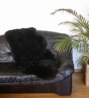 australische Doppel Lammfelle aus 1, 5 Fellen schwarz gefärbt, voll waschbar, ca. 140x68 cm