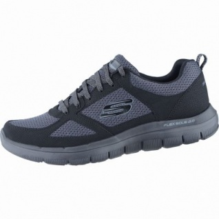 Skechers Flex Advantage 2.0 coole Herren Mesh Sneakers black, Air-Cooled-Memory-Foam-Fußbett, 4238178