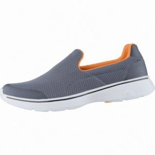 Skechers GO Walk 4 coole Herren Mesh Sneakers charcoal orange, GOga-Max-Fußbett, 4238173/42