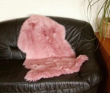 australische Lammfelle mauve gefärbt waschbar, Haarlänge ca. 70 mm, ca. 100x6...
