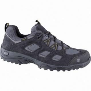 Jack Wolfskin Vojo Hike 2 Texapore Low Men Herren Leder Mesh Outdoor Schuh phantom, Trekking Laufsohle, 4442157/6.5