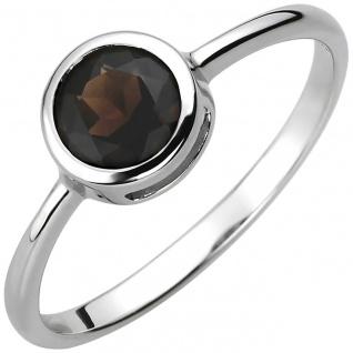 modischer Damen Ring 925er Sterling Silber mit Rauchquarz, Durchmesser ca. 7,...
