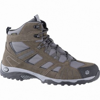 Jack Wolfskin Vojo Hike Mid Texapore Men Herren Leder Mesh Outdoor Boots wood, herausnehmbare Einlegesohle, 4441174/8.0