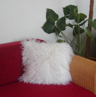 attraktives Tibetlammfell Fellkissen naturweiß, ca. 45 x 45 cm, Haarlänge ca....
