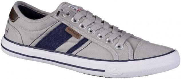 DOCKERS Herren Canvas Sneakers beige, weiches Fußbett, Laufsohle mit Dockers ...