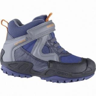 Geox Jungen Synthetik Winter Amphibiox Boots blue, 7 cm Schaft, Warmfutter, Geox Fußbett, 3741118/35