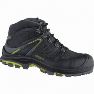 Grisport Maranello Herren Leder Sicherheits Schuhe nero, DIN EN ISO 20345, ölresistent, 5537102/39