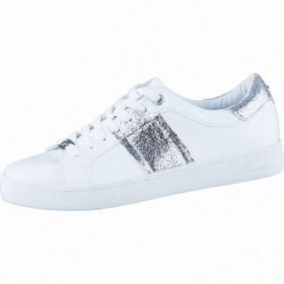 TOM TAILOR coole Damen Synthetik Sneakers white silver, flexible Tom-Tailor-Laufsohle, 1238209/37