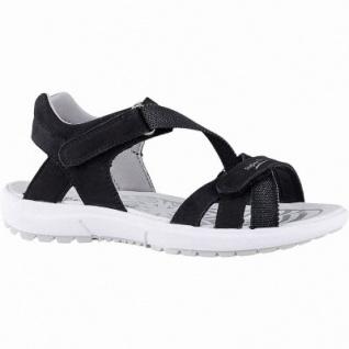 Superfit modische Mädchen Leder Sandalen schwarz, mittlere Weite, Leder Decksohle, 3542120/31