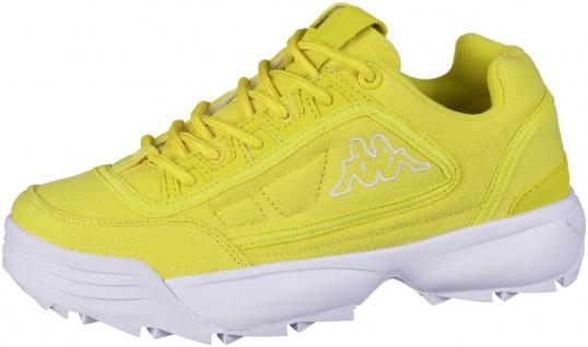 KAPPA Rave Sun coole Damen Canvas Sneaker yellow, herausnehmbare Decksohle
