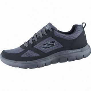 Skechers Flex Advantage 2.0 coole Herren Mesh Sneakers black, Air-Cooled-Memory-Foam-Fußbett, 4238178/39