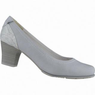 Jana komfortable Damen Leder Pumps grey, Jana Comfort Fußbett, Extra Weite H, 1138106/7.0