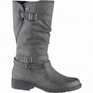 Indigo modische Mädchen Synthetik Winter Tex Stiefel graphite, Warmfutter, warmes Fußbett, 3739162/35