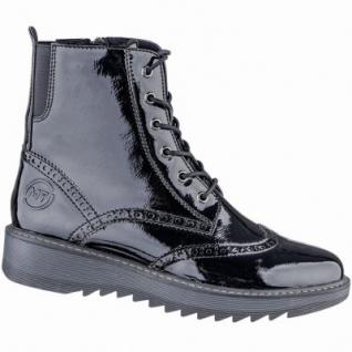 Marco Tozzi coole Damen Lack Synthetik Winter Stiefeletten schwarz, Warmfutter, 1639126