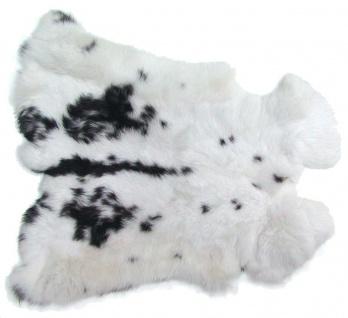 Kaninchenfelle weiß-schwarz naturfarben, ca. 30x30 cm, Felle vom Kaninchen mi...
