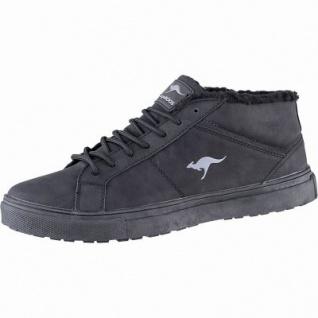 Kangaroos K-Wu Herren Synthetik Winter Sneaker Boots jet black, Warmfutter, warme Decksohle, Laschen-Tasche, 2541108/42