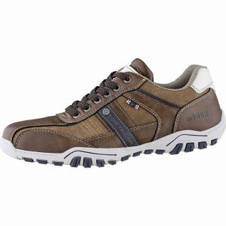 TOM TAILOR sportliche Herren Leder Imitat Sneakers cognac, Textilfutter, gepo...