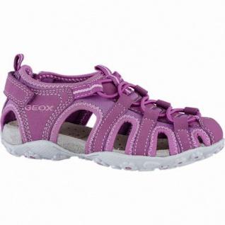 Geox modische Mädchen Synthetik Sandalen fuchsia, Geox Leder Fußbett, Antishock, 3540130/36