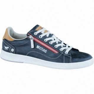 Mustang coole Herren Synthetik Sneakers stein, Textilfutter, gepolsterte Decksohle, 2136124