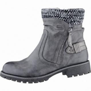 Jana modische Damen Synthetik Winter Boots graphite, Extra Weite H, Tex Ausstattung, Warmfutter, warme Decksohle, 1739127