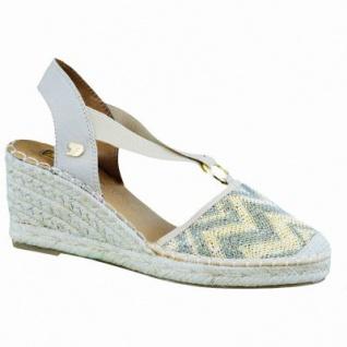 TOM TAILOR modische Damen Keil Sandaletten mit Bastsohle gold, Canvas, gepolsterte Tom-Tailor-Decksohle, 1436165/40
