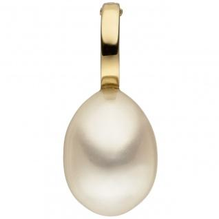 Anhänger Einhänger 585 Gold Gelbgold 1 Süßwasser Perle Perlenanhänger
